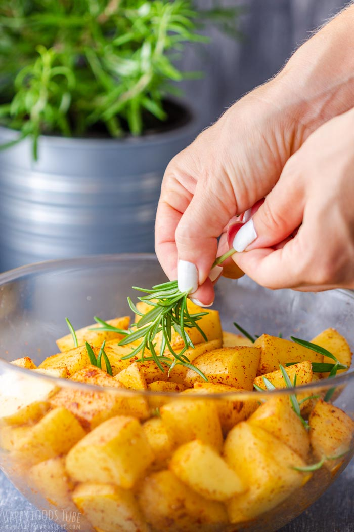 Steps How to Make Campfire Potatoes - Add Herbs
