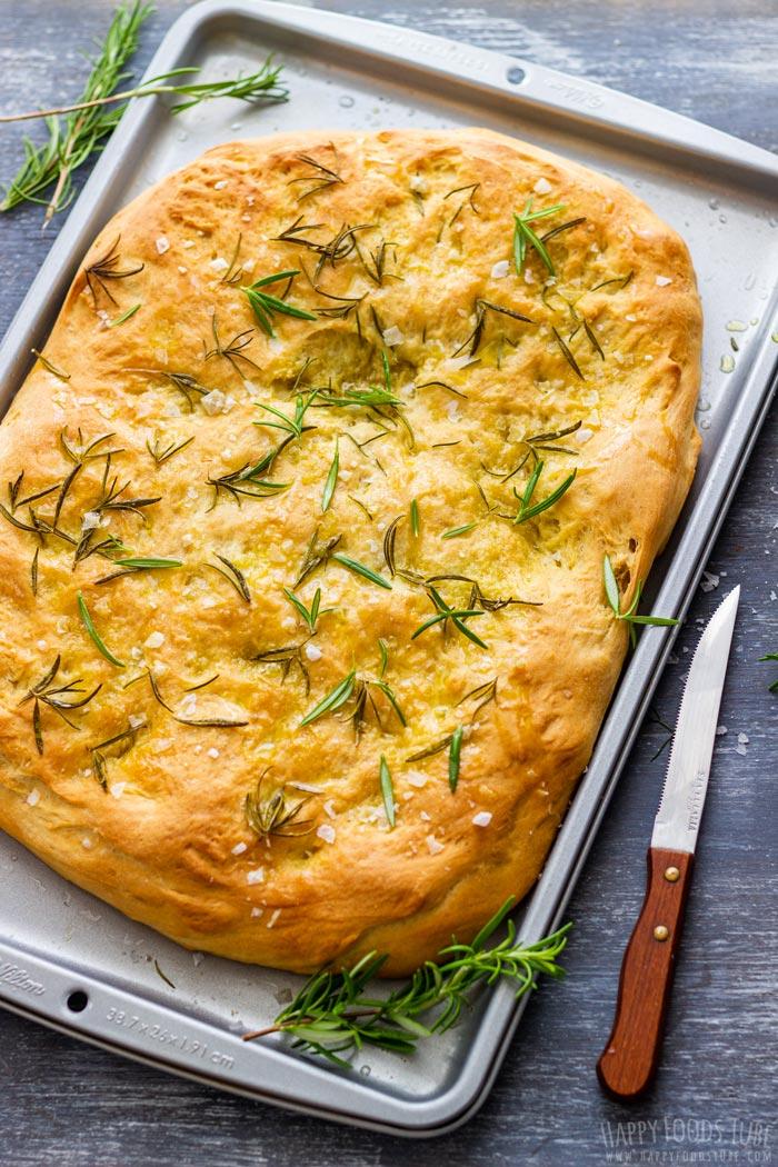 Traditional Italian Focaccia Bread
