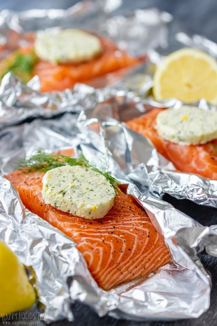 How to make Grilled Salmon Foil Packets Step 1