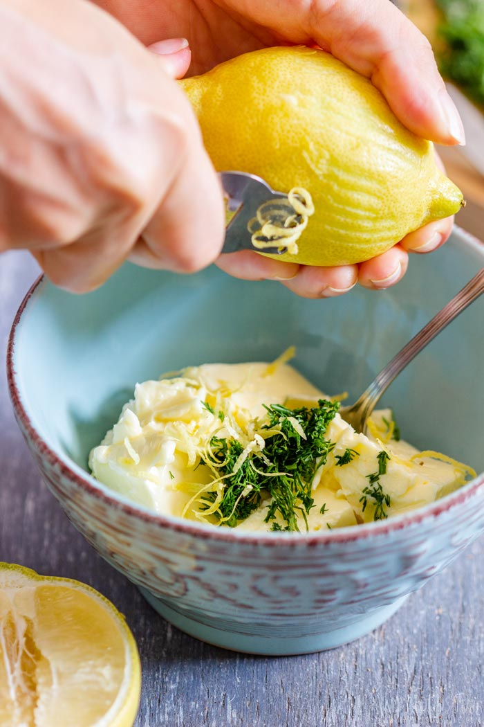 How to make Lemon Dill Compound Butter Step 2