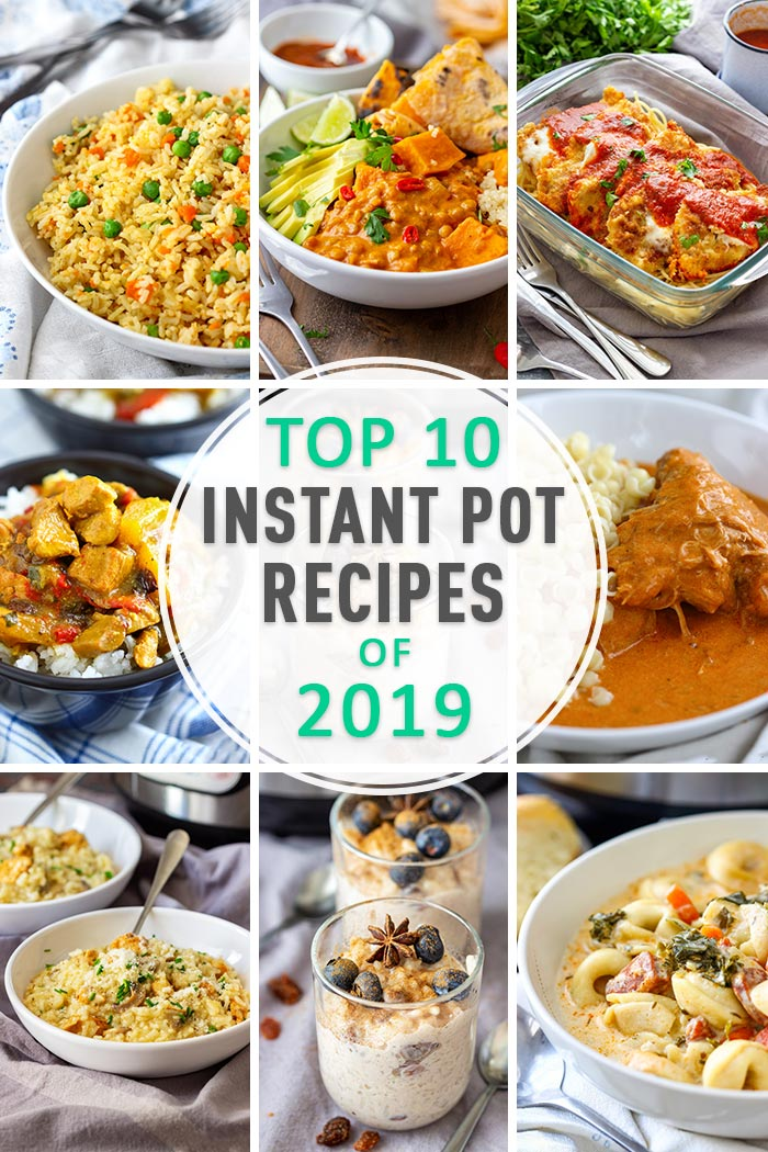 Top 10 Instant Pot Recipes of 2019 Collage