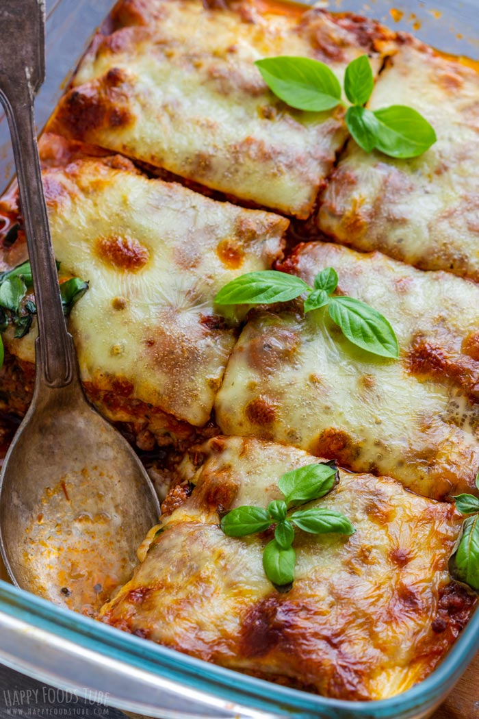 Zucchini Lasagna with Cheese