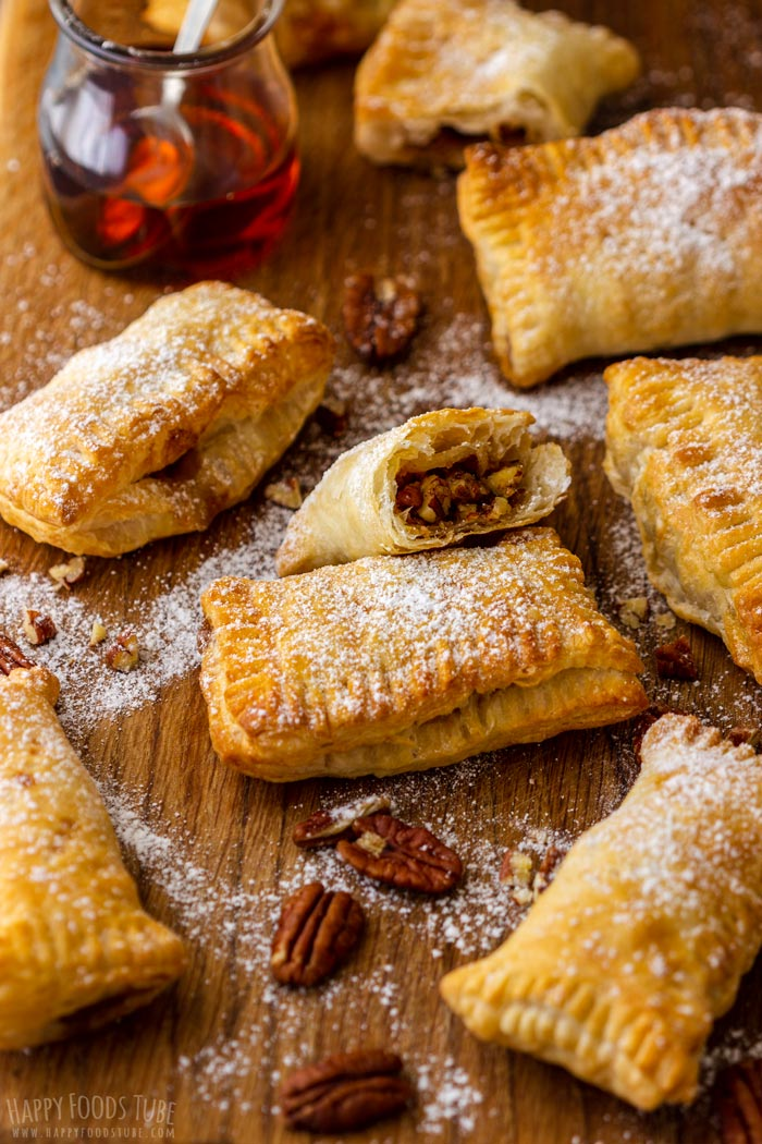 Air Fryer Mini Hand Pies with Maple Syrup and Pecans