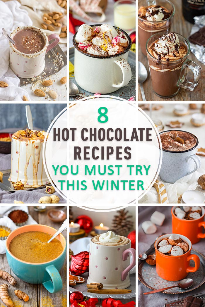 Hot Chocolate Recipes Collage