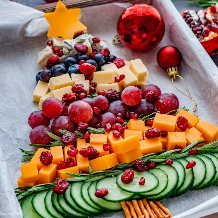 Homemade Christmas Tree Cheese Board