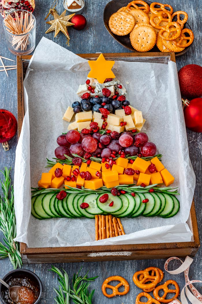 Christmas Tree Shaped Cheese Board