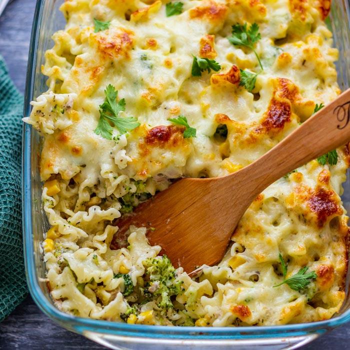 Creamy Tuna Pasta Bake Recipe Happy Foods Tube