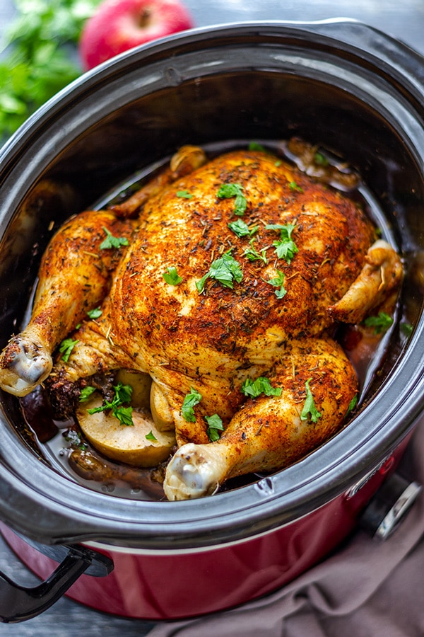 Crock Pot Slow Cooker Whole Chicken