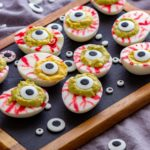 Spooky Eyeball Deviled Eggs