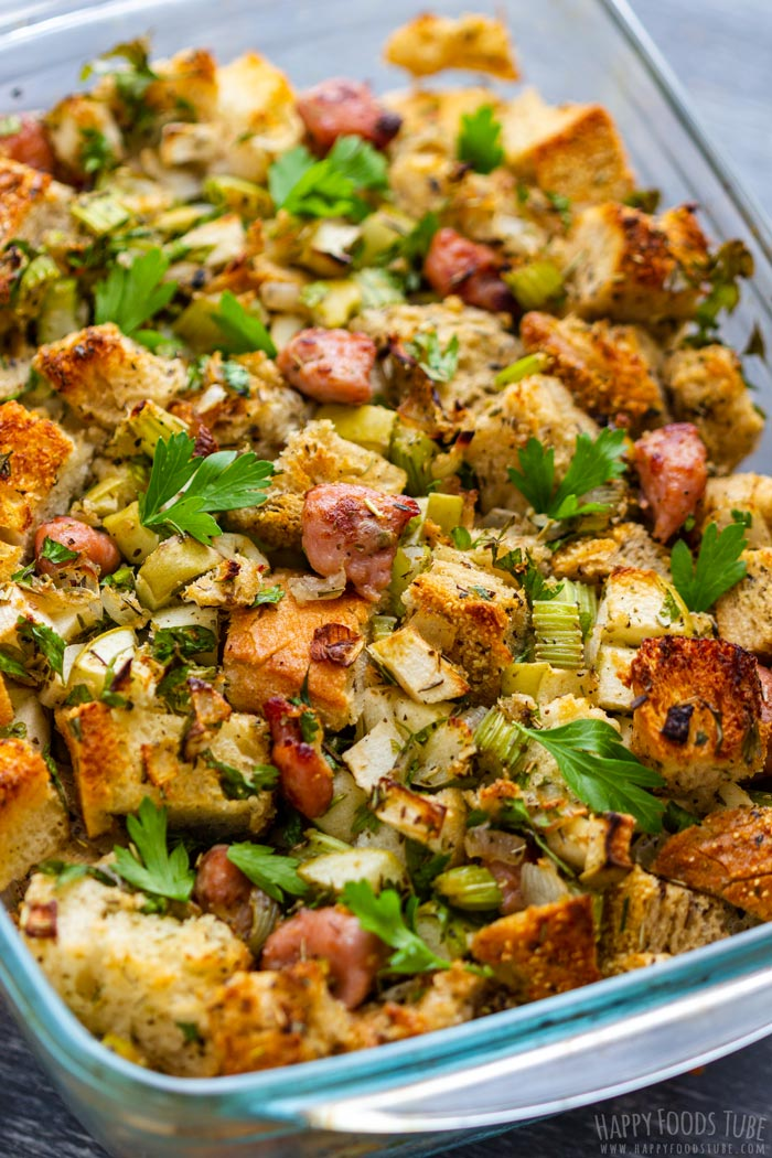 Homemade Sausage and Apple Stuffing