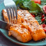 Honey Glazed Air Fryer Salmon with Salad
