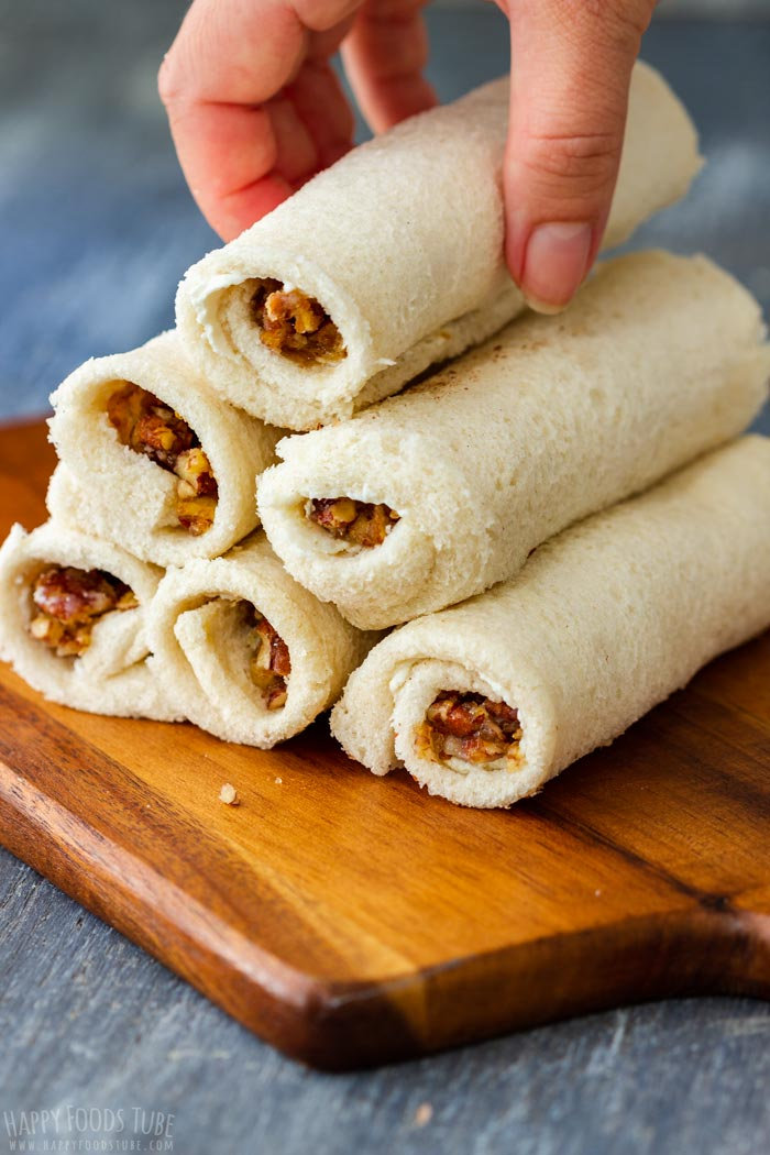 How to make Maple Pecan French Toast Roll Ups Step 4