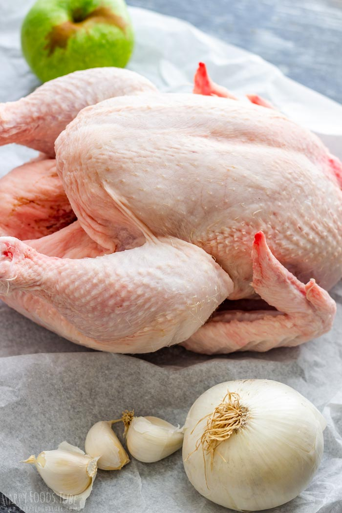 How to make Slow Cooker Whole Chicken Step 1