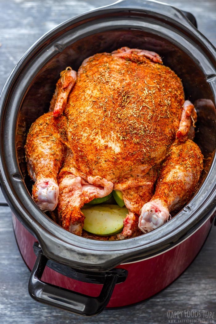 How to make Slow Cooker Whole Chicken Step 4