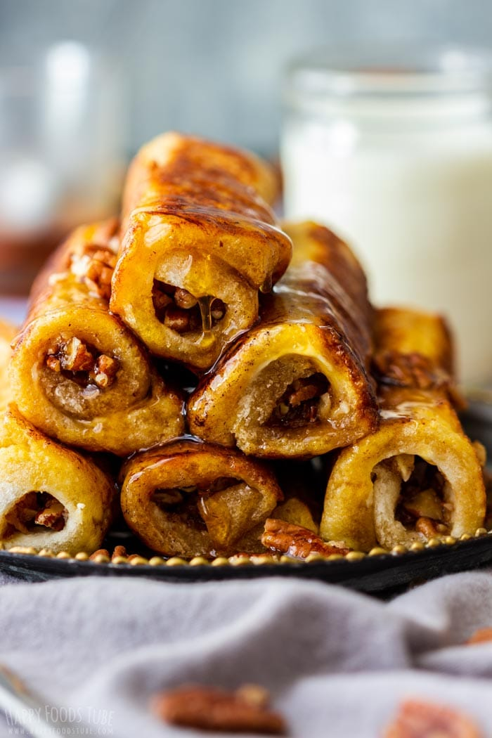 Maple Pecan French Toast Roll Ups for Breakfast
