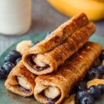 Nutella Banana French Toast Roll Ups Dessert