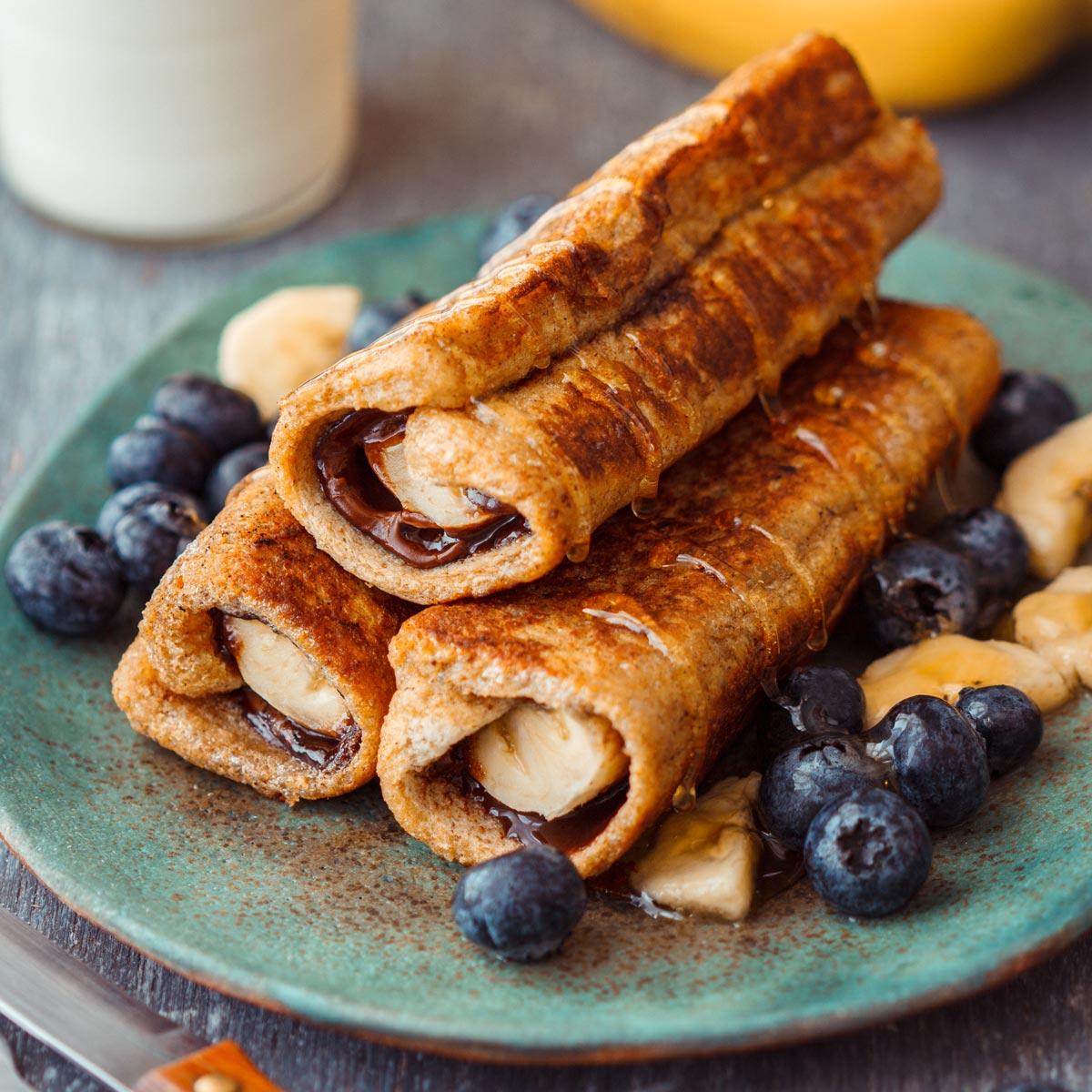 Nutella Banana French Toast Roll Ups