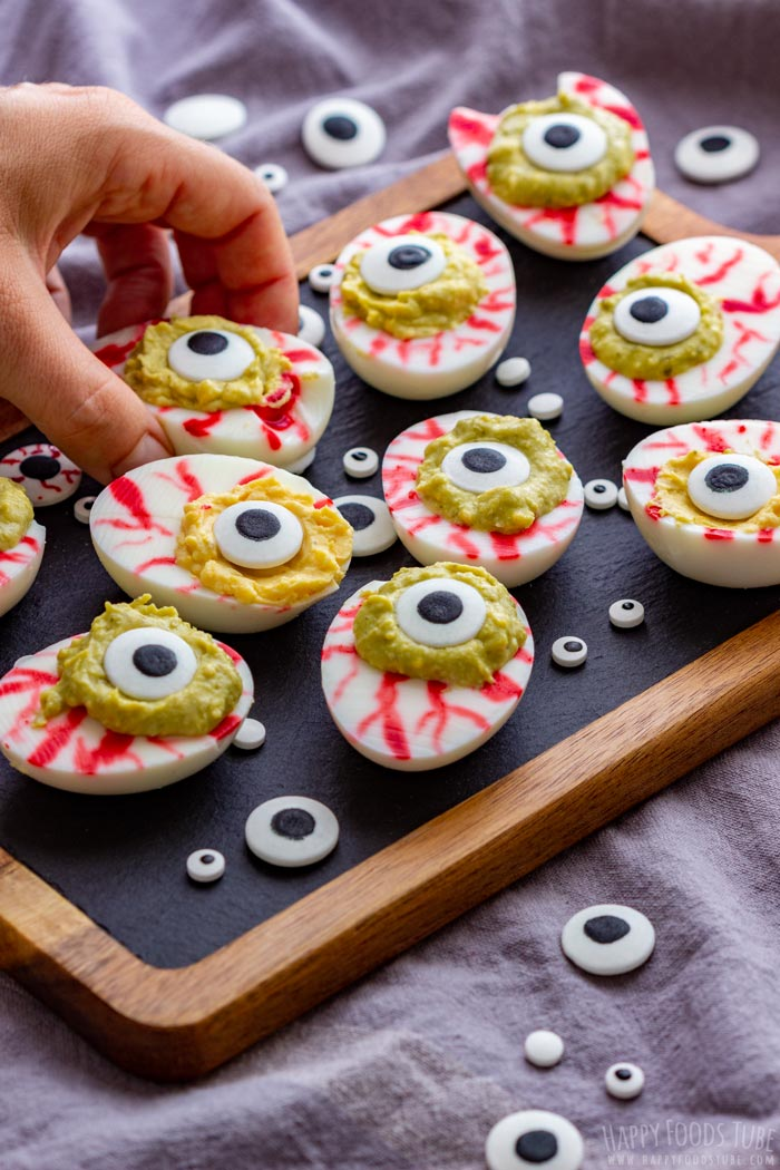 Scary Eyeball Deviled Eggs