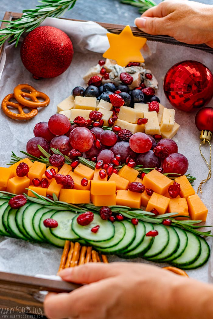 Seving Christmas Tree Cheese Board