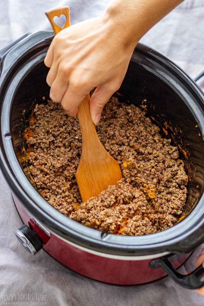 Serving Slow Cooker Sweet Potato Casserole