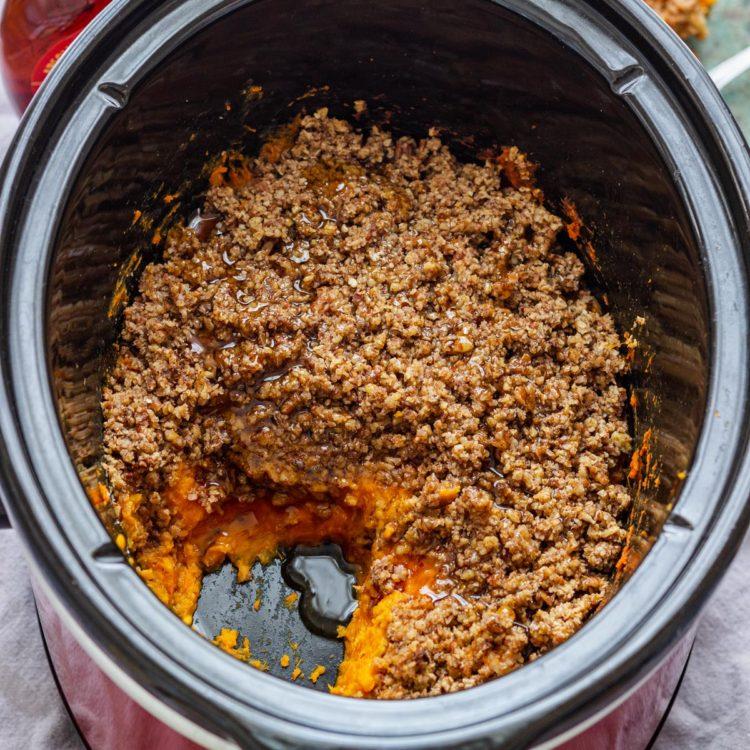 Homemade Slow Cooker Sweet Potato Casserole