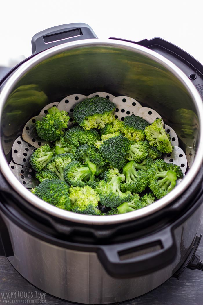Uncooked Broccoli in the Instant Pot