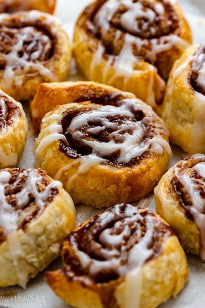 Air Fryer Cinnamon Rolls with White Icing