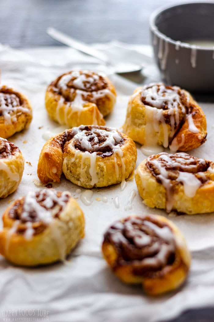 Air Fryer Puff Pastry Cinnamon Rolls