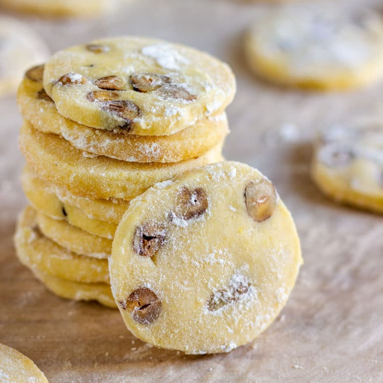 Best Butter Cookies with Hazelnuts
