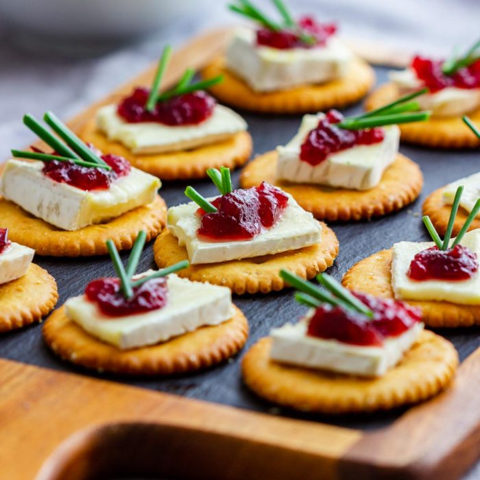 No Bake Cranberry Brie Bites