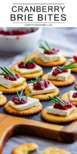 No Bake Cranberry Brie Bites Party Food
