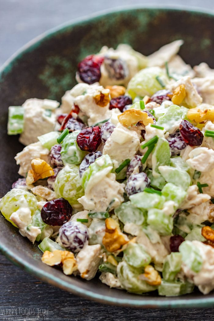Cranberry Walnut Chicken Salad Closeup