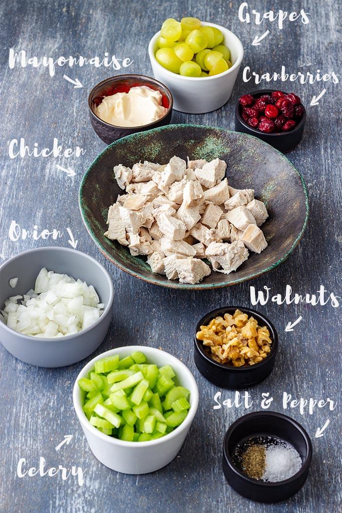 Cranberry Walnut Chicken Salad Ingredients