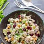 Easy Cranberry Walnut Chicken Salad