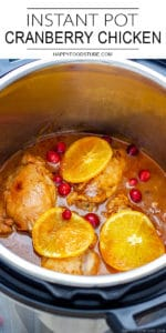 Easy Instant Pot Cranberry Chicken Recipe