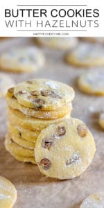 Homemade Butter Cookies with Hazelnuts