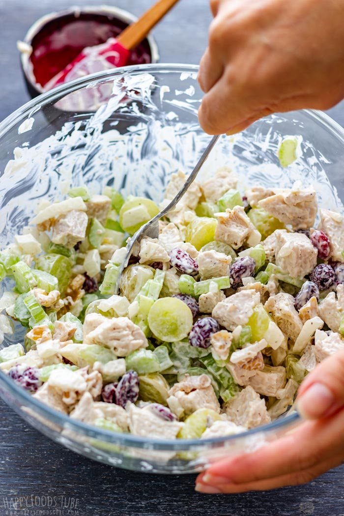 How to make Chicken Salad with Cranberries and Walnuts Step 2