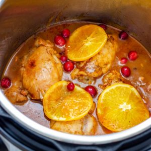 Homemade Instant Pot Cranberry Chicken