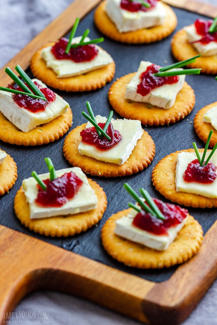 Party Appetizers Cranberry Brie Bites