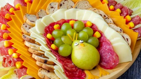 Thanksgiving Turkey Cheese Board