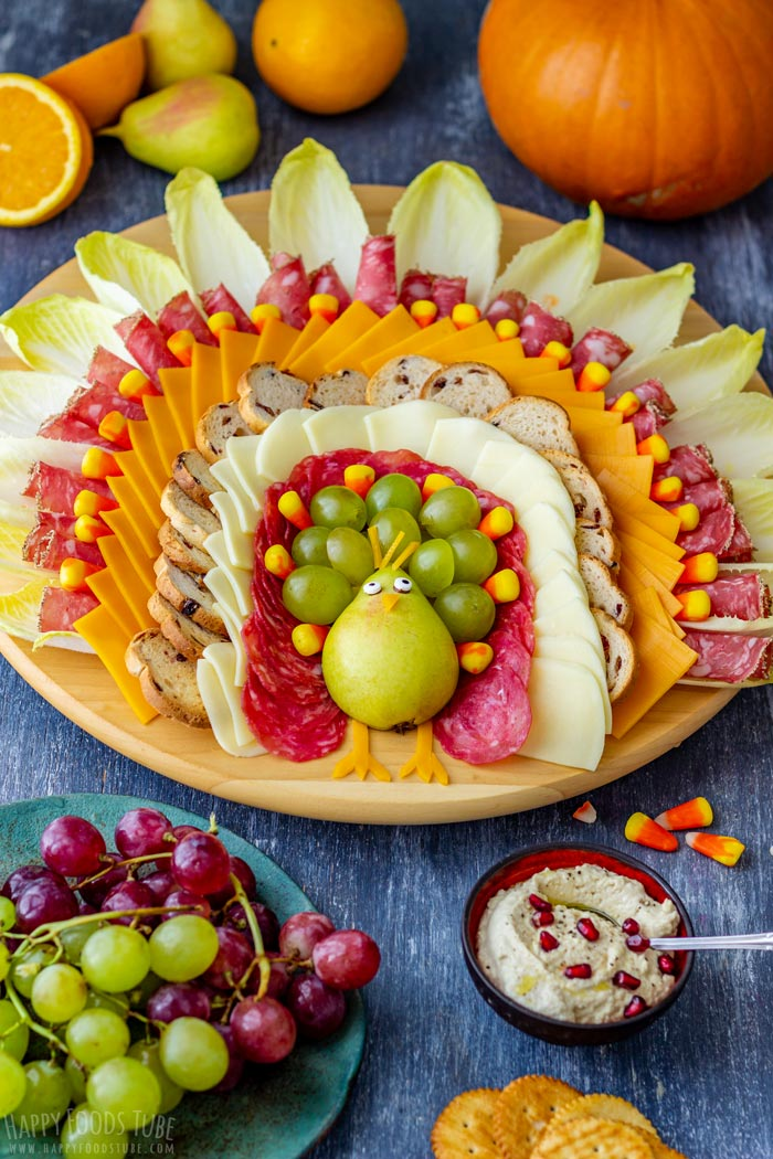 Thanksgiving Turkey Cheese Board Platter
