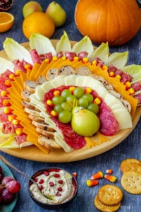 Turkey Shaped Thanksgiving Cheese Board
