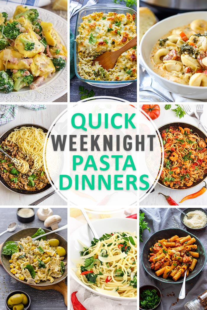 Quick Weeknight Pasta Dinners Roundup