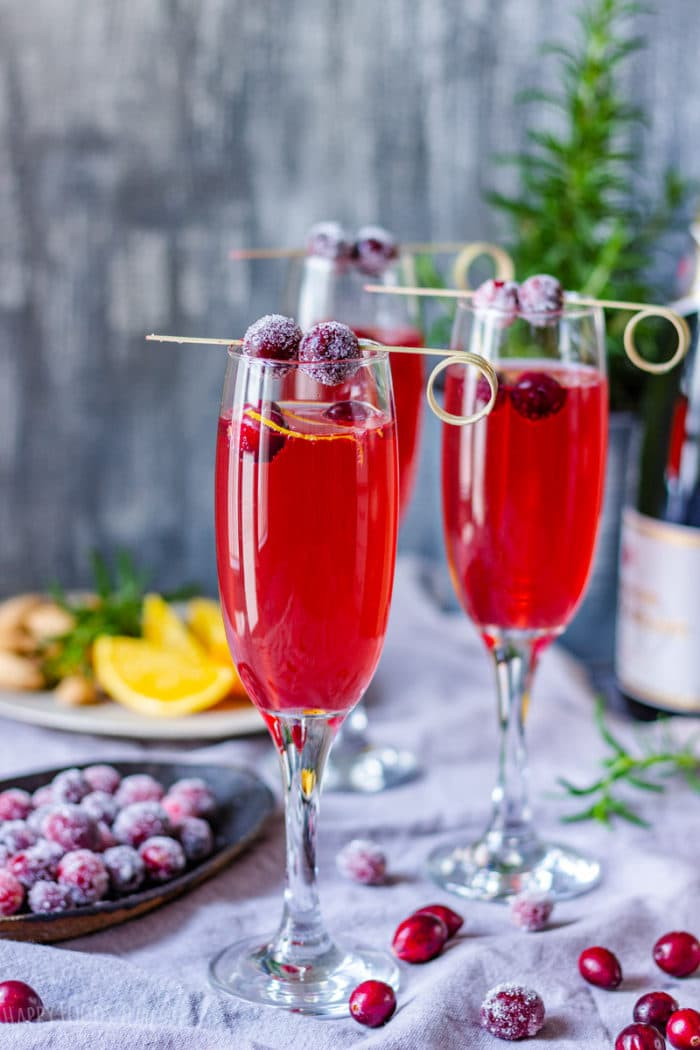Best Poinsettia Champagne Cocktail