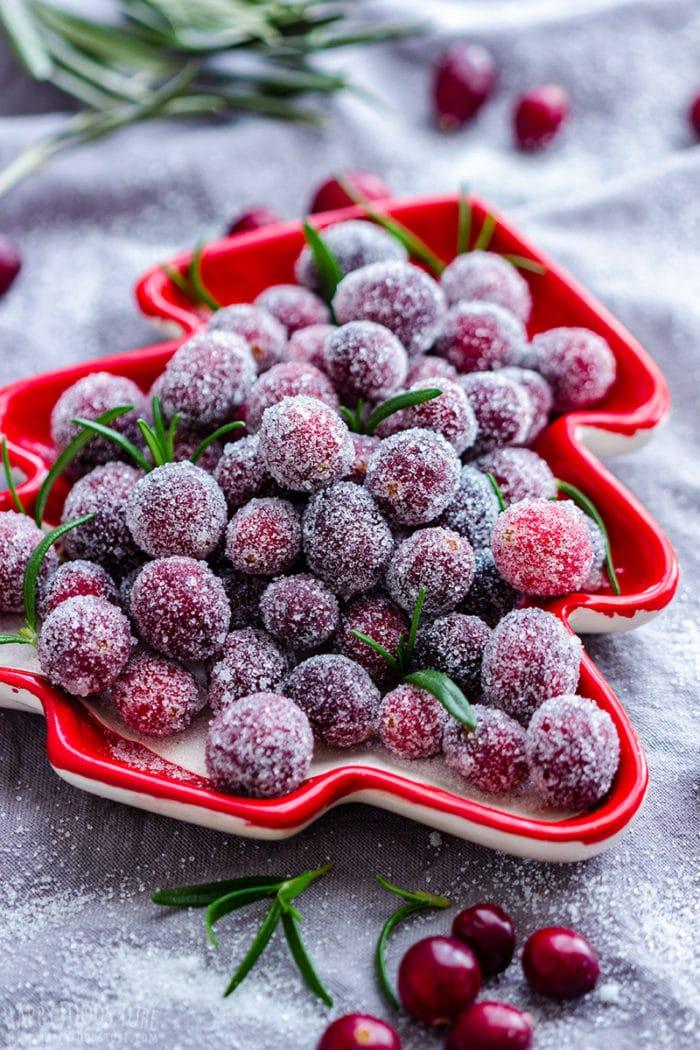 Easy Sugared Cranberries Recipe