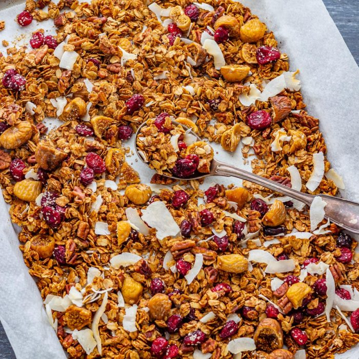 Gingerbread Granola for Christmas