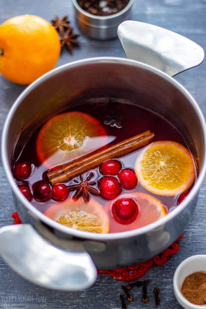 Homemade Non Alcoholic Mulled Wine