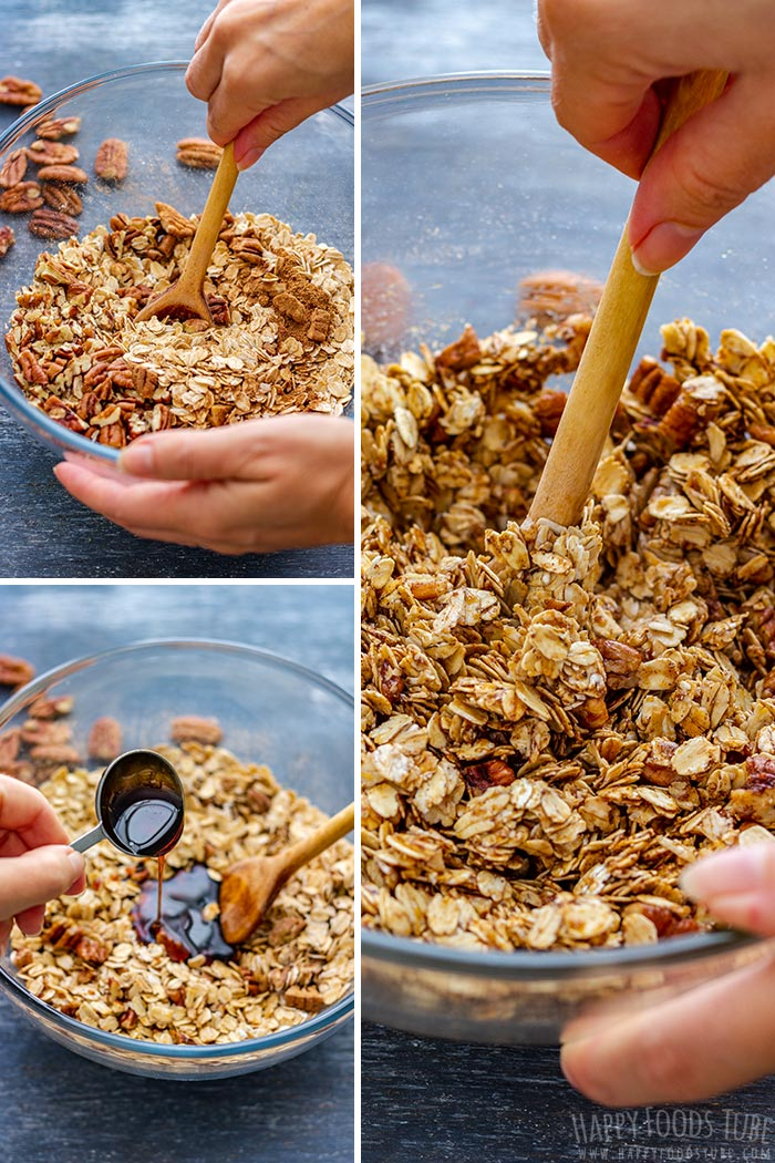 Steps How to Make Gingerbread Granola