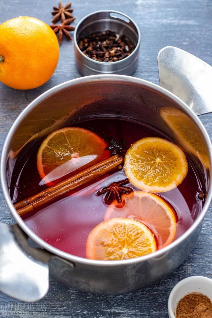 Stove Top Non Alcoholic Mulled Wine