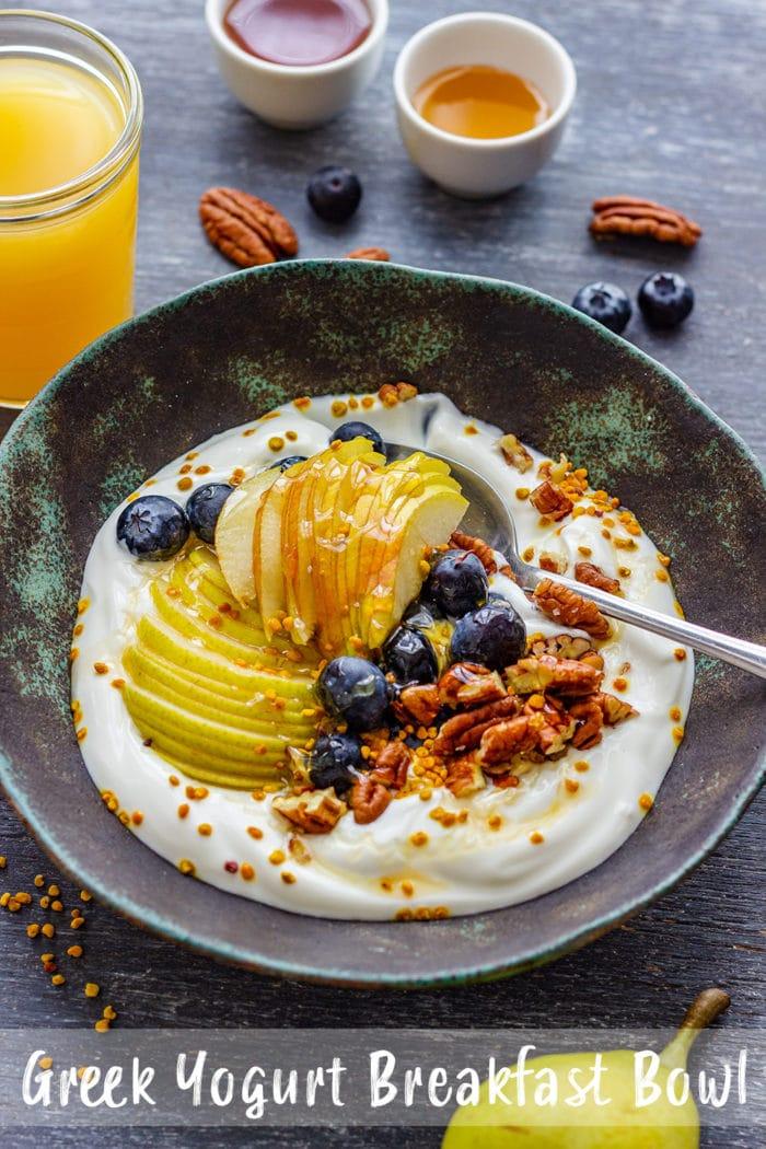 Greek Yogurt Breakfast Bowl Pin